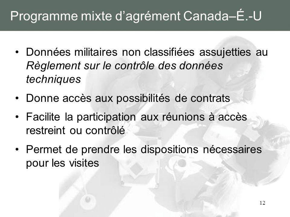 Programme mixte d'agrément Canada–É.-U