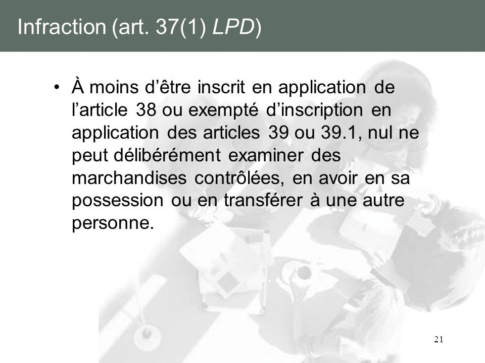 Infraction (art. 37(1) LPD)