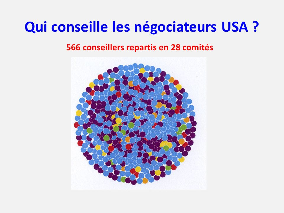 Qui conseille les négociateurs USA