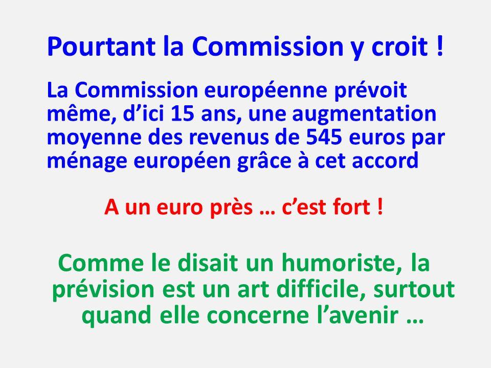 Pourtant la Commission y croit !