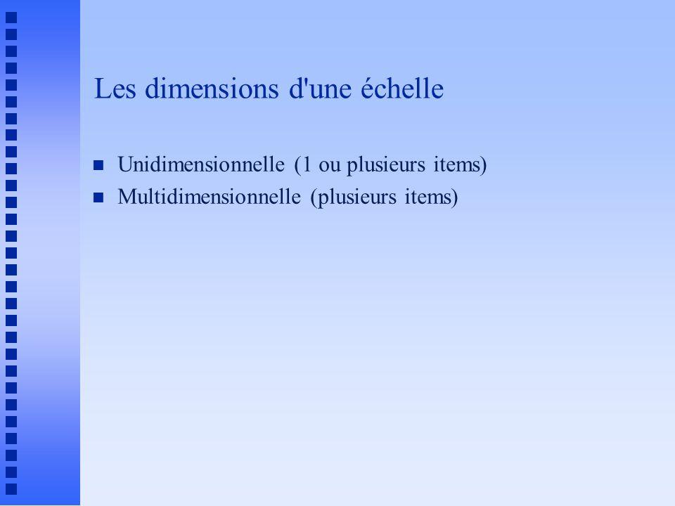 Les dimensions d une échelle