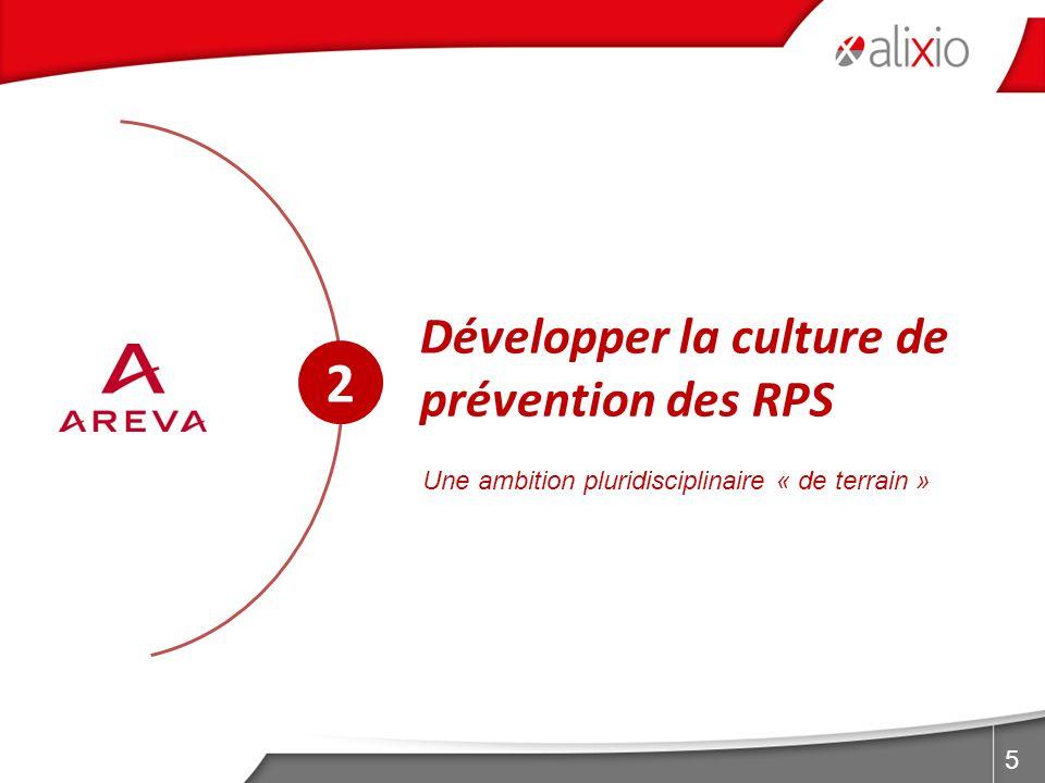 2 Développer la culture de prévention des RPS