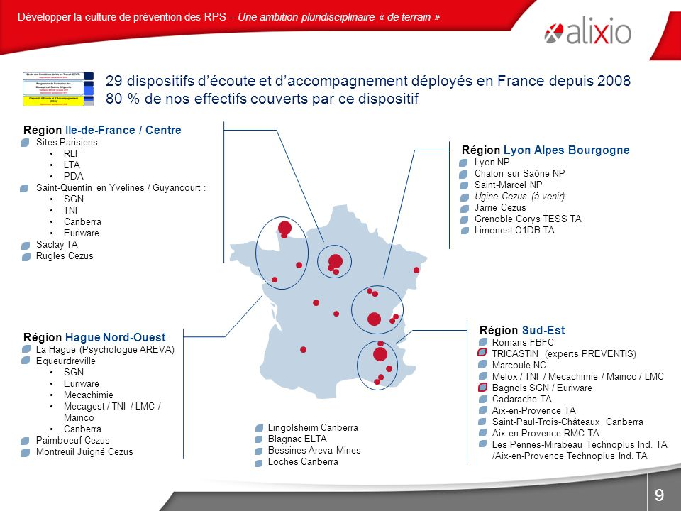 80 % de nos effectifs couverts par ce dispositif