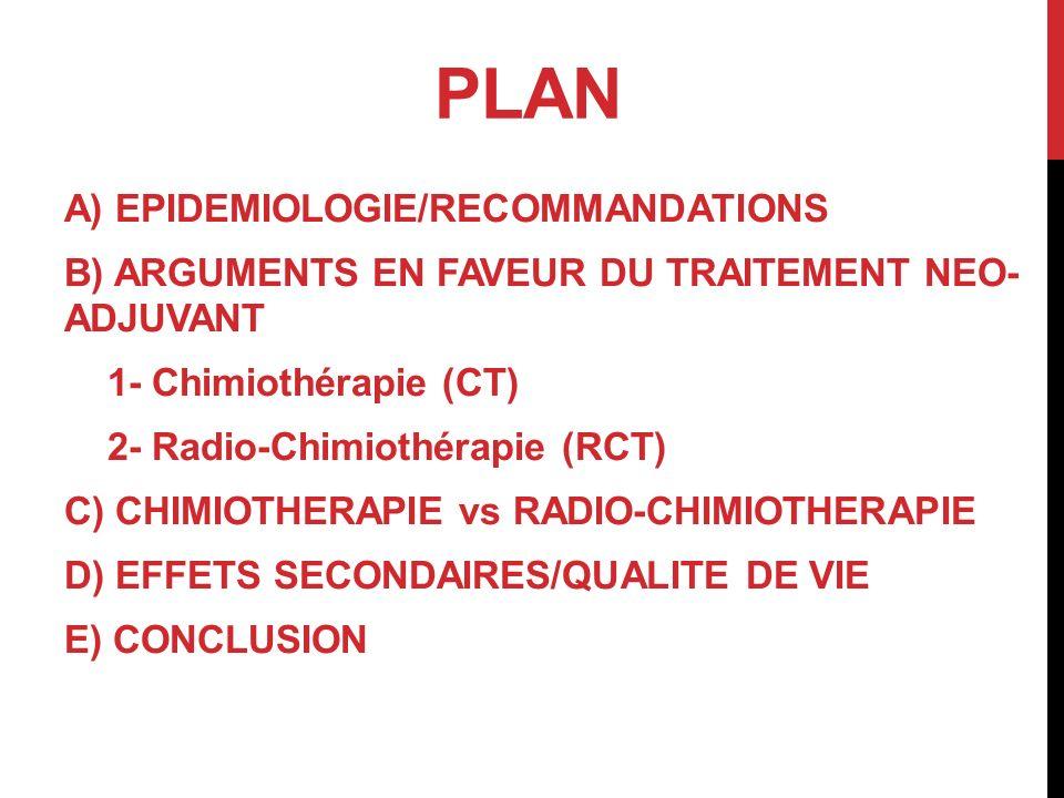 PLAN A) EPIDEMIOLOGIE/RECOMMANDATIONS