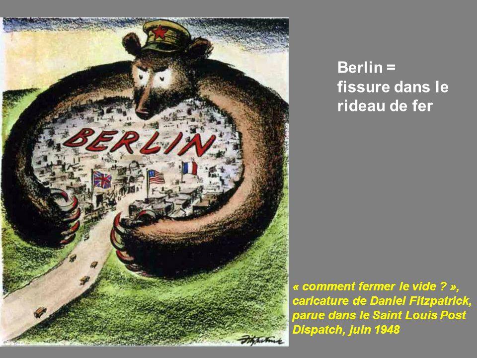 Berlin = fissure dans le rideau de fer