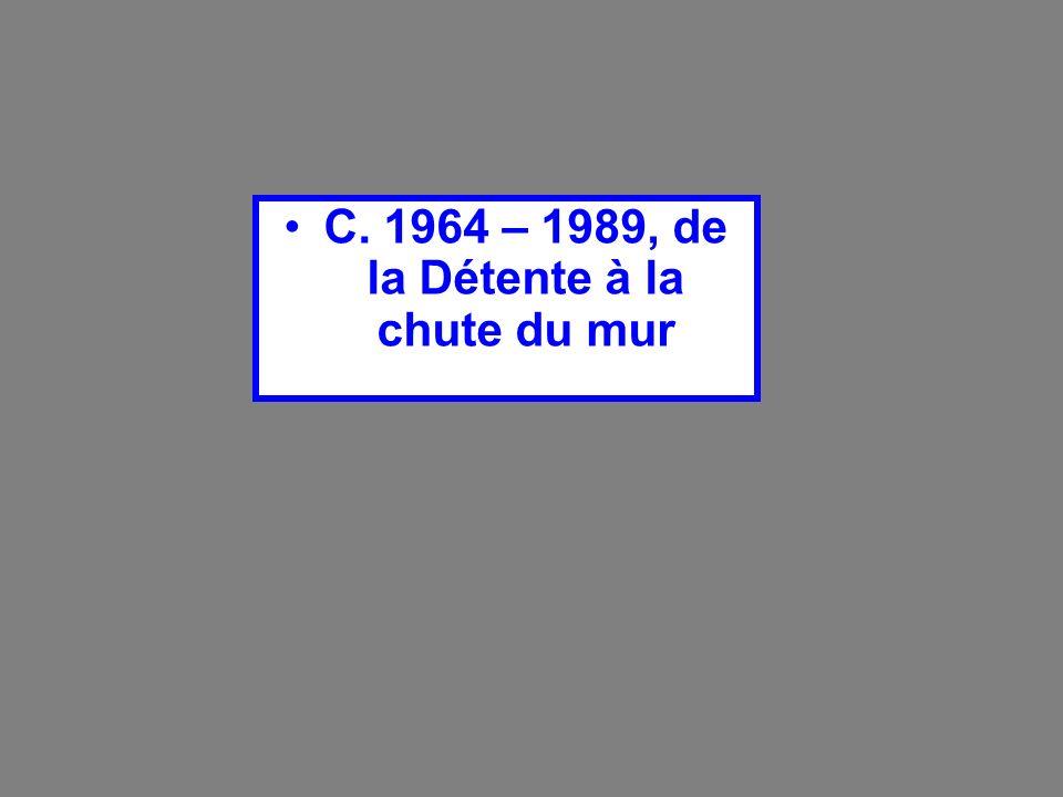 C. 1964 – 1989, de la Détente à la chute du mur