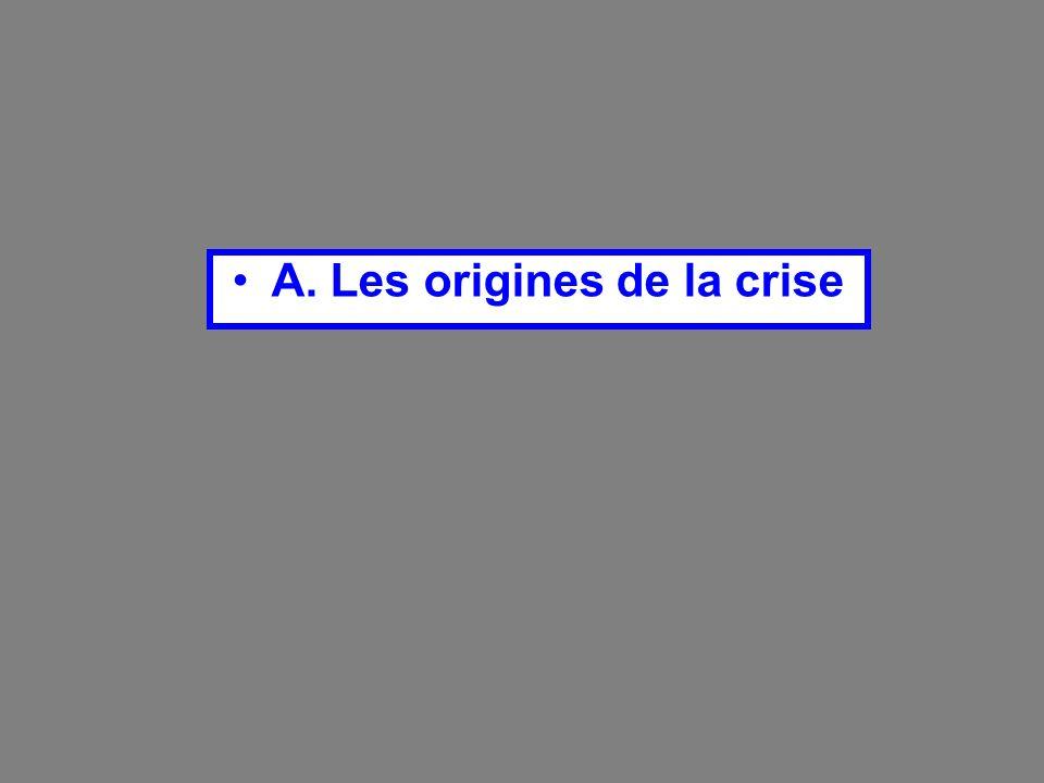 A. Les origines de la crise