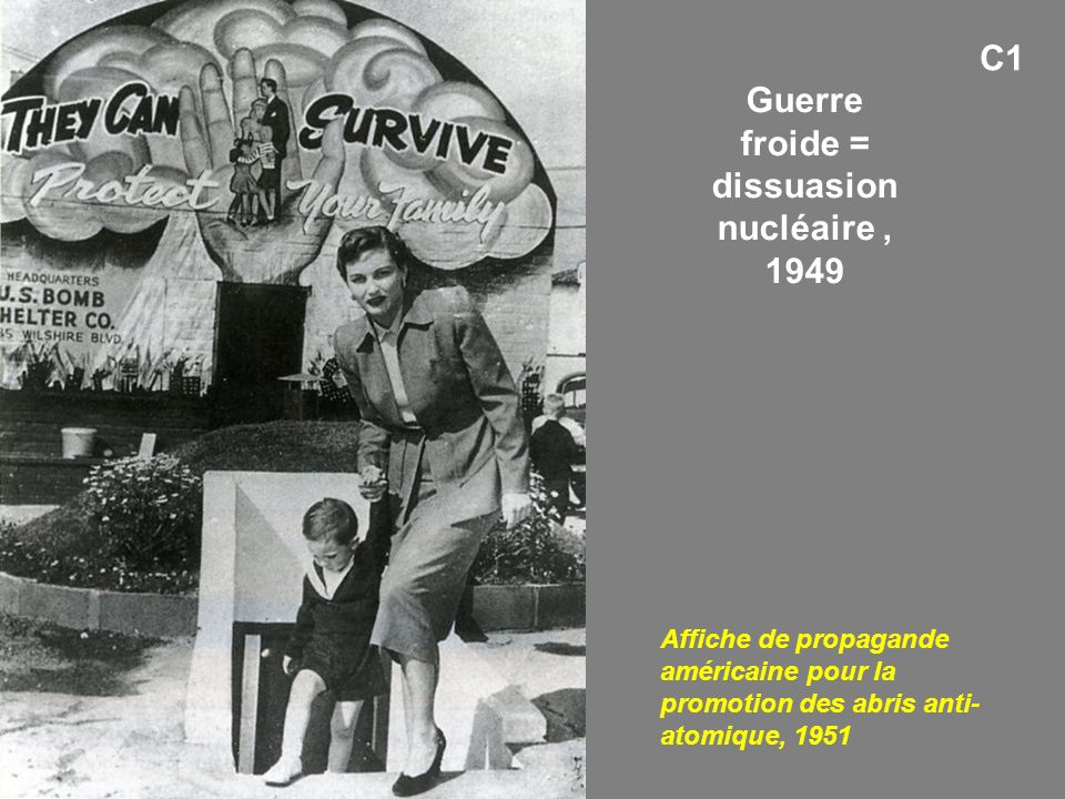 Guerre froide = dissuasion nucléaire , 1949