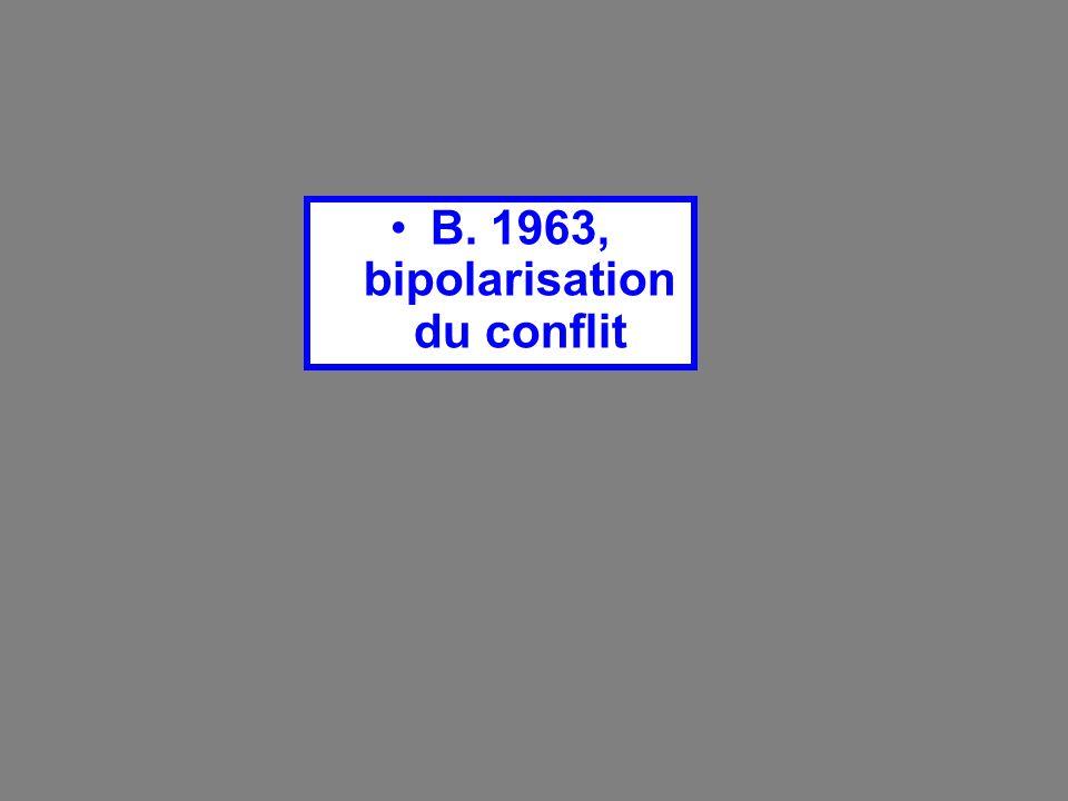 B. 1963, bipolarisation du conflit