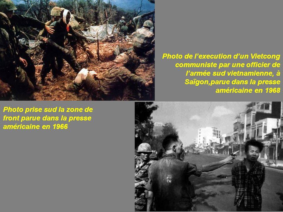 Photo de l'execution d'un Vietcong communiste par une officier de l'armée sud vietnamienne, à Saïgon,parue dans la presse américaine en 1968