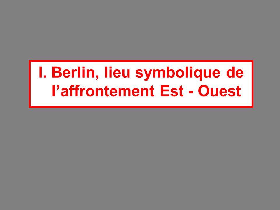 I. Berlin, lieu symbolique de l'affrontement Est - Ouest