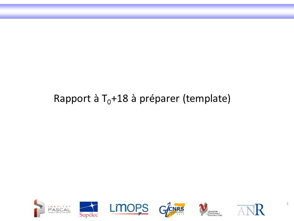Rapport à T0+18 à préparer (template)