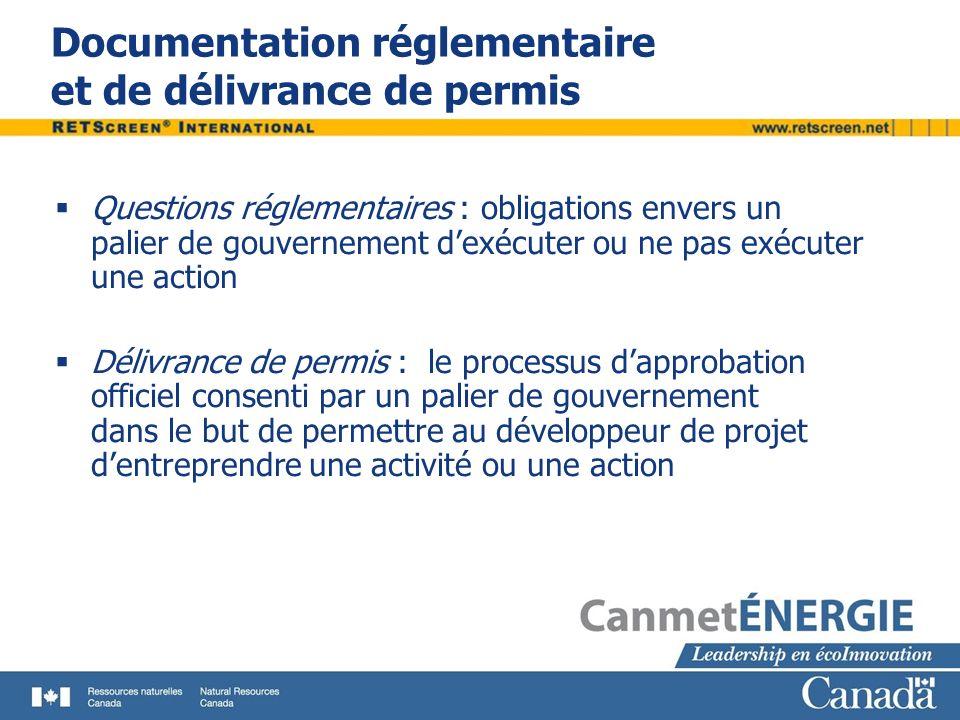 Documentation réglementaire et de délivrance de permis