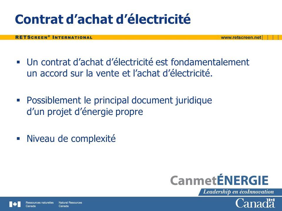 Contrat d'achat d'électricité