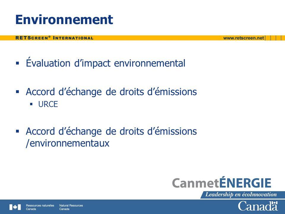 Environnement Évaluation d'impact environnemental