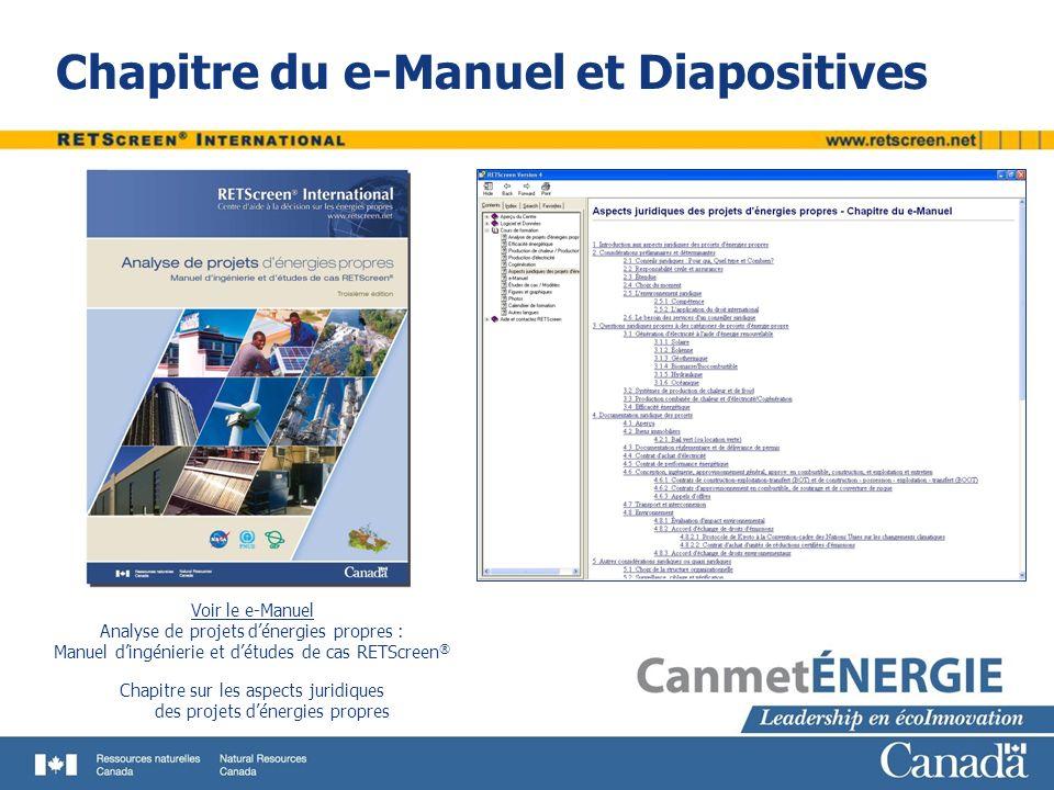 Chapitre du e-Manuel et Diapositives