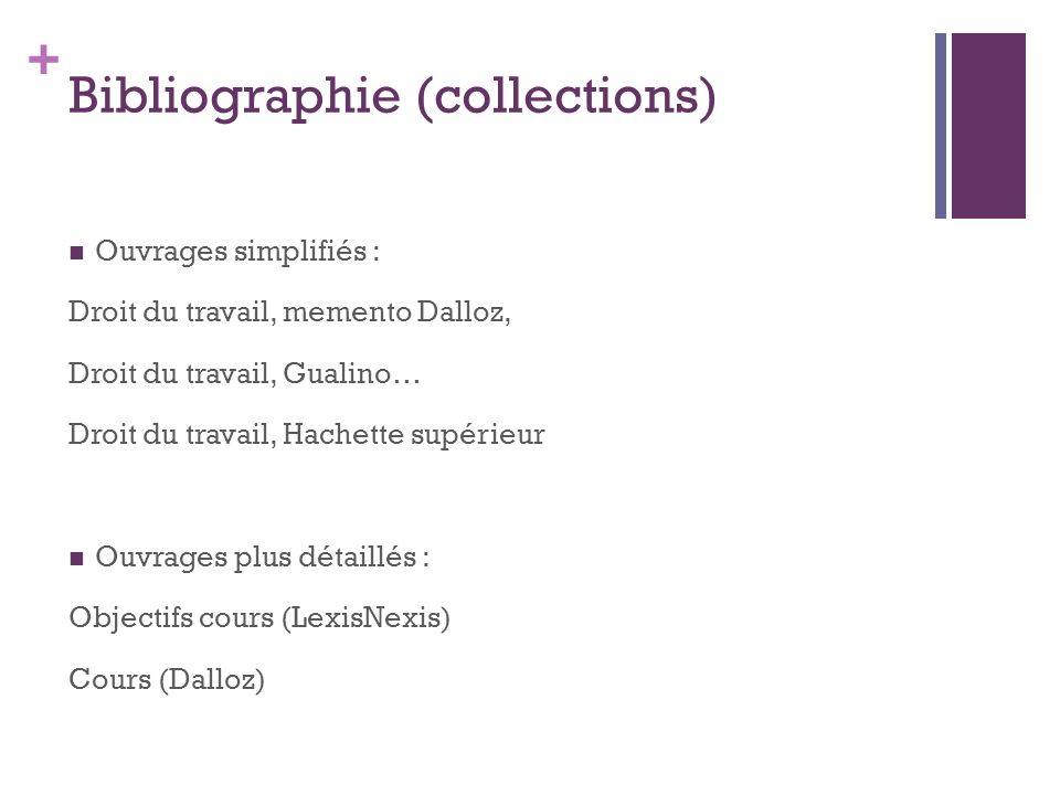 Bibliographie (collections)