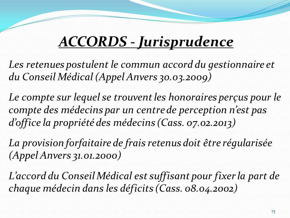 ACCORDS - Jurisprudence