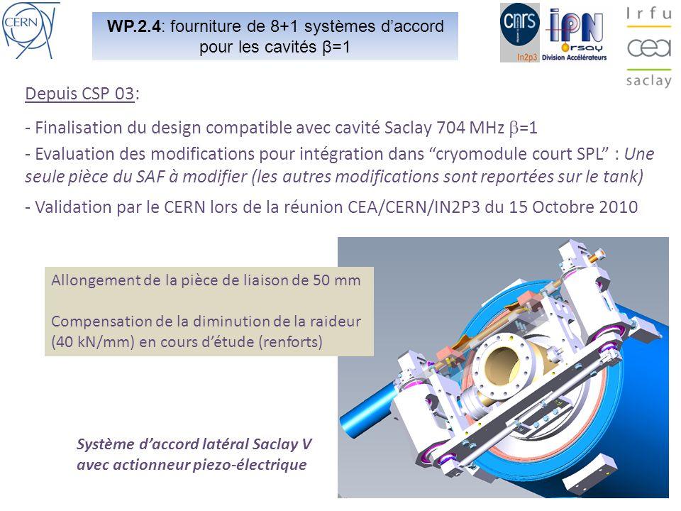 WP.2.4: fourniture de 8+1 systèmes d'accord