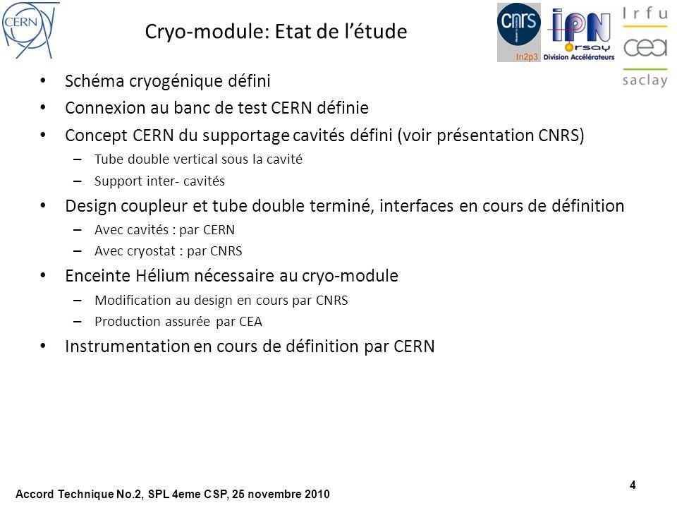 Cryo-module: Etat de l'étude