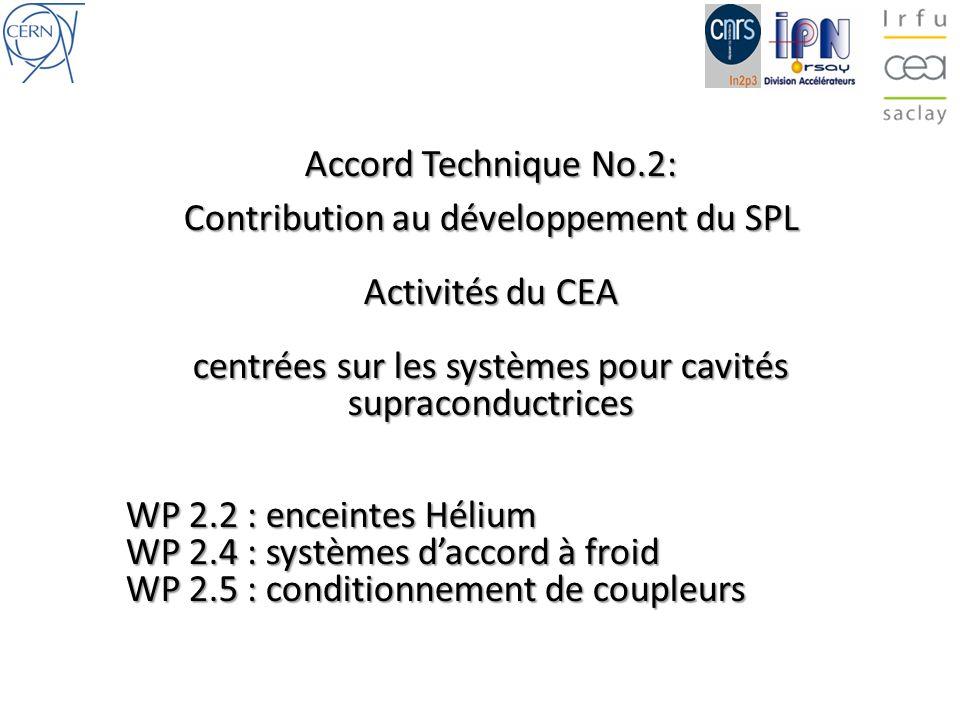 centrées sur les systèmes pour cavités supraconductrices