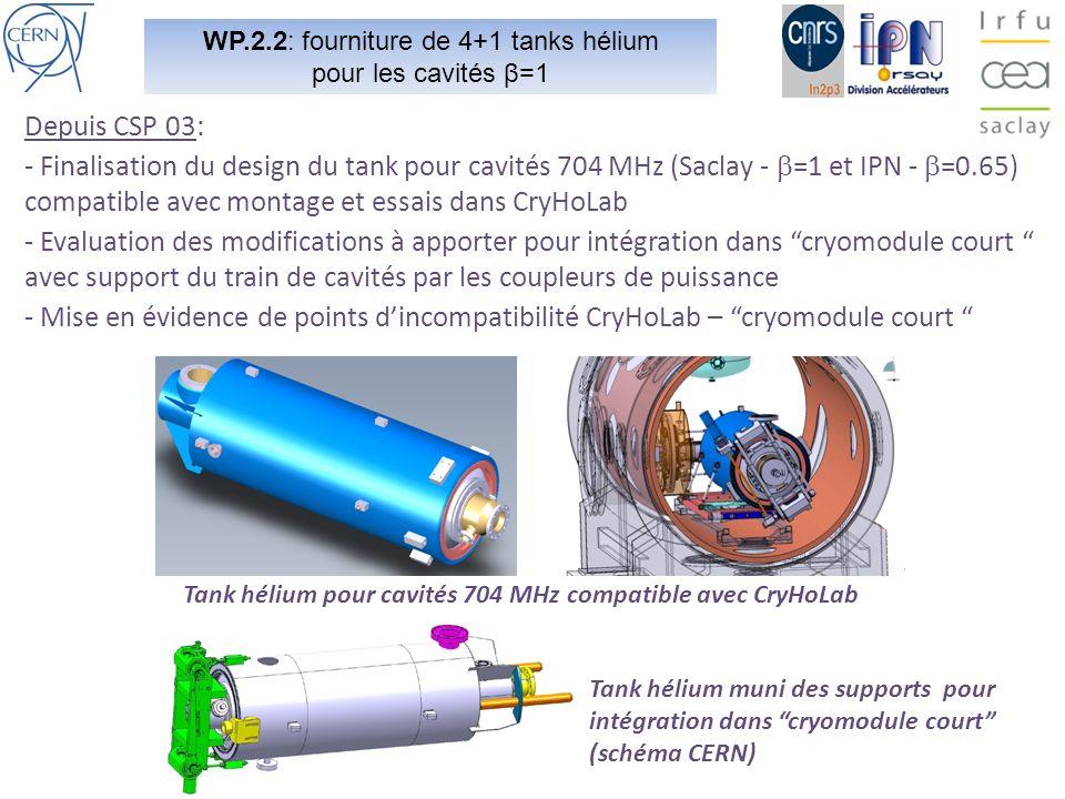 WP.2.2: fourniture de 4+1 tanks hélium