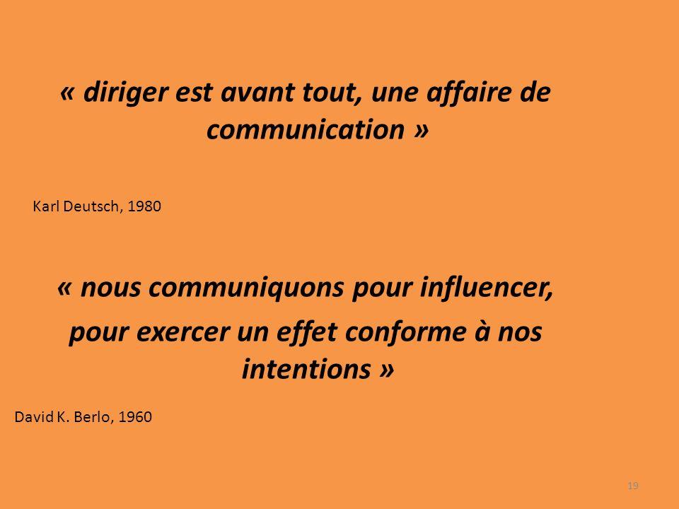 « diriger est avant tout, une affaire de communication »