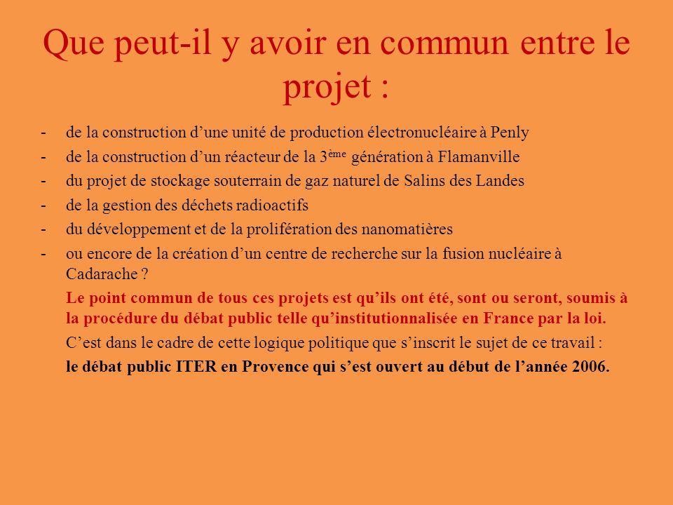 Que peut-il y avoir en commun entre le projet :