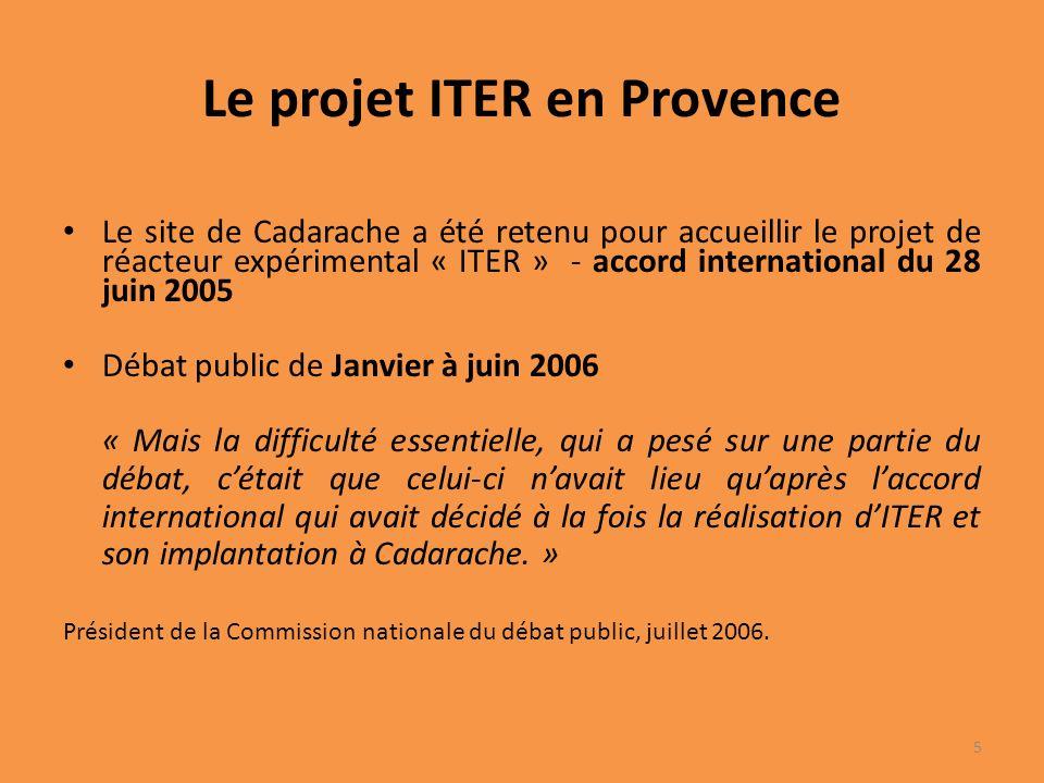 Le projet ITER en Provence