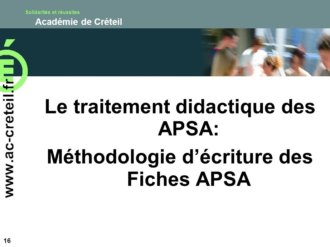 Le traitement didactique des APSA:
