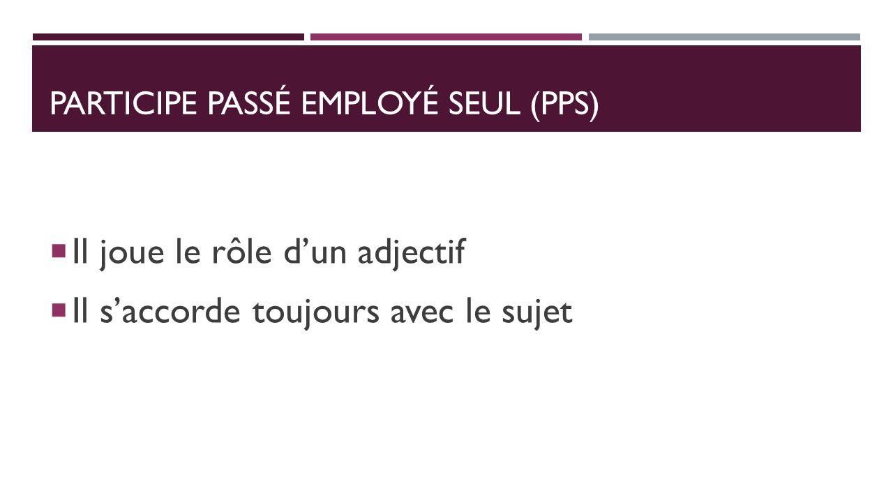 Participe passé employé seul (PPS)