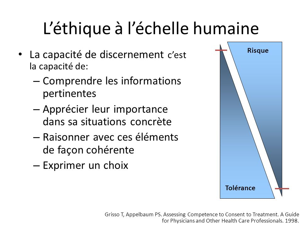 L'éthique à l'échelle humaine