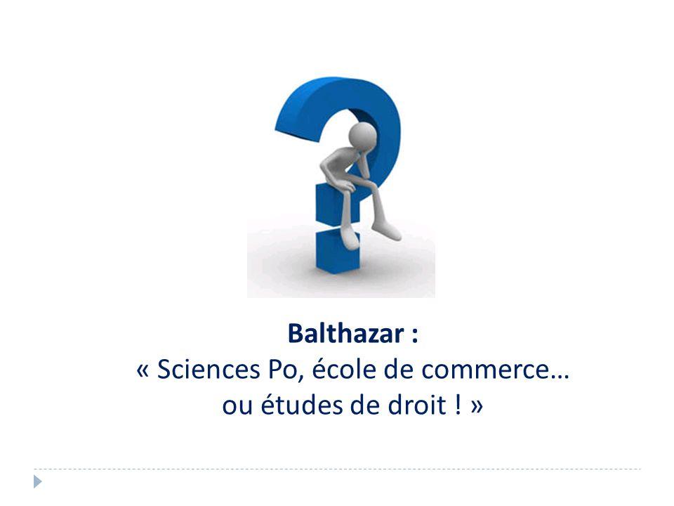 « Sciences Po, école de commerce…