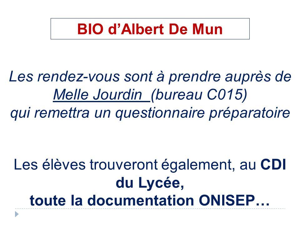 toute la documentation ONISEP…