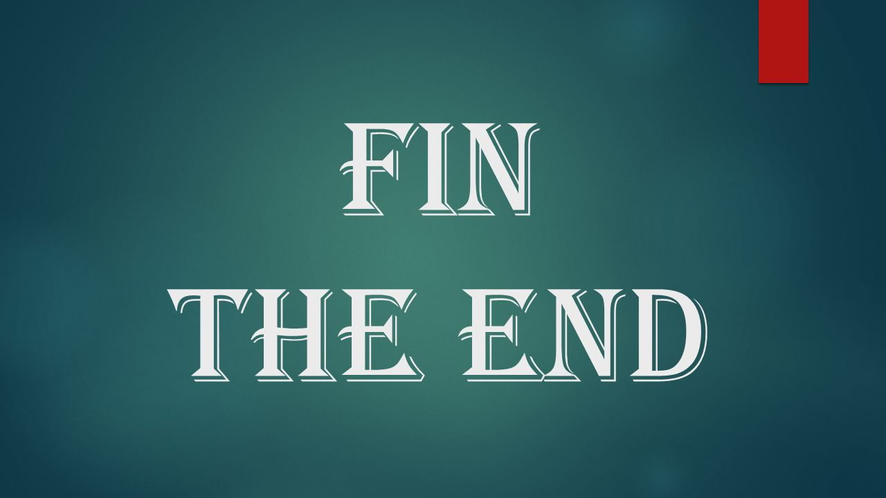 FIN THE END