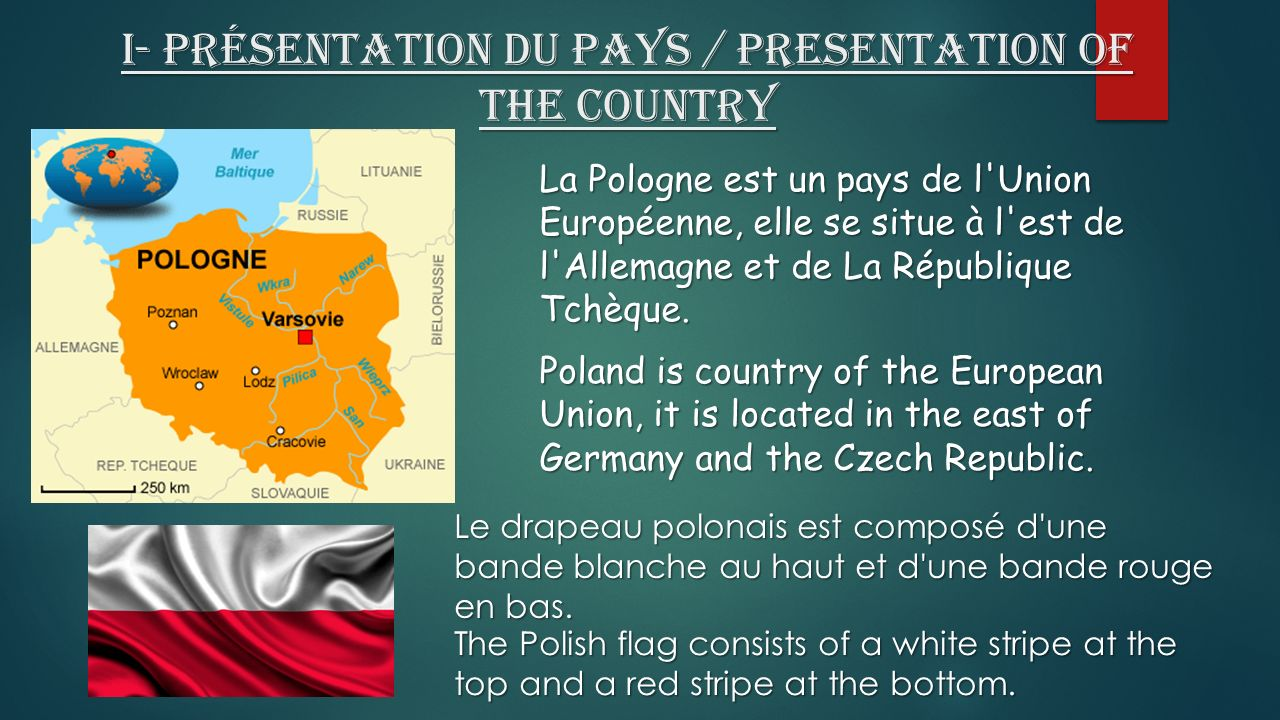 I- Présentation du pays / Presentation of the country