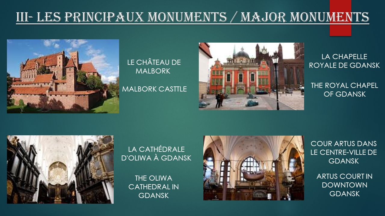 III- Les principaux monuments / Major monuments