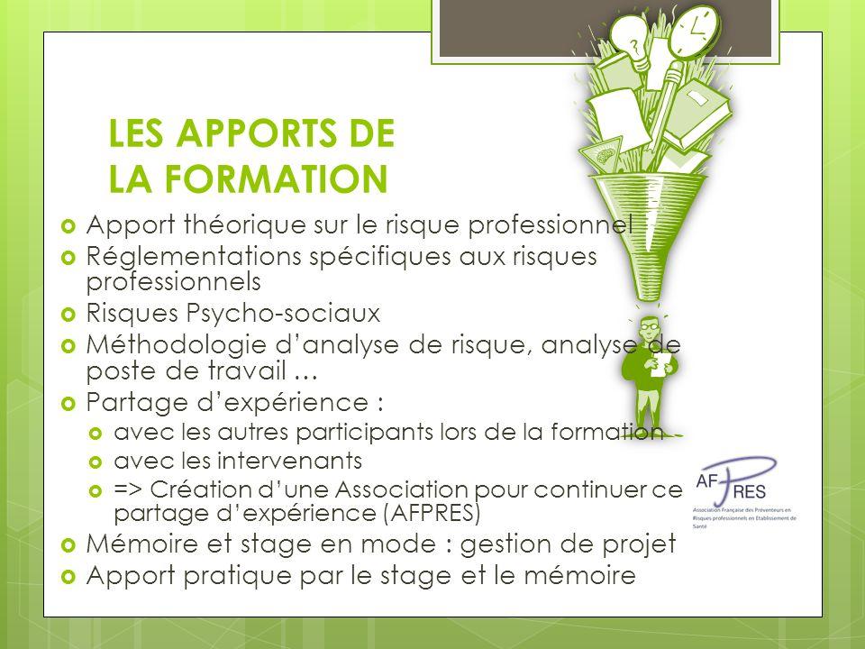 LES APPORTS DE LA FORMATION