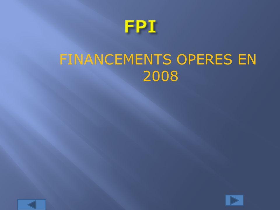 FINANCEMENTS OPERES EN 2008