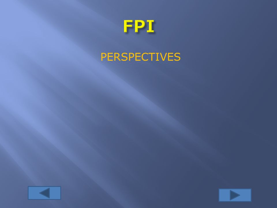 FPI PERSPECTIVES