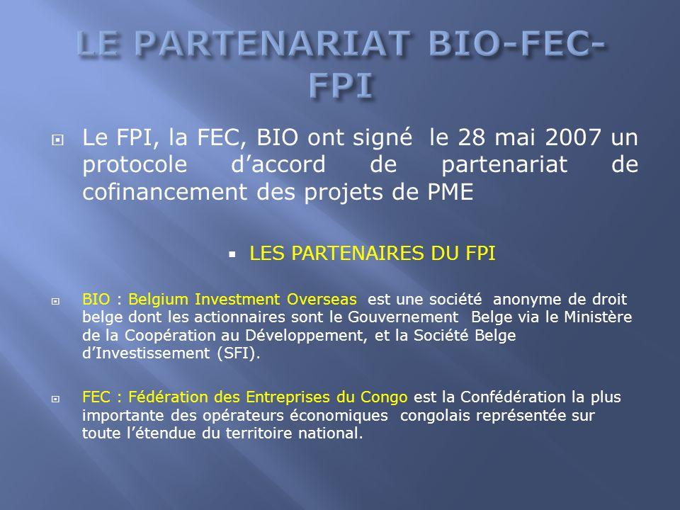 LE PARTENARIAT BIO-FEC-FPI