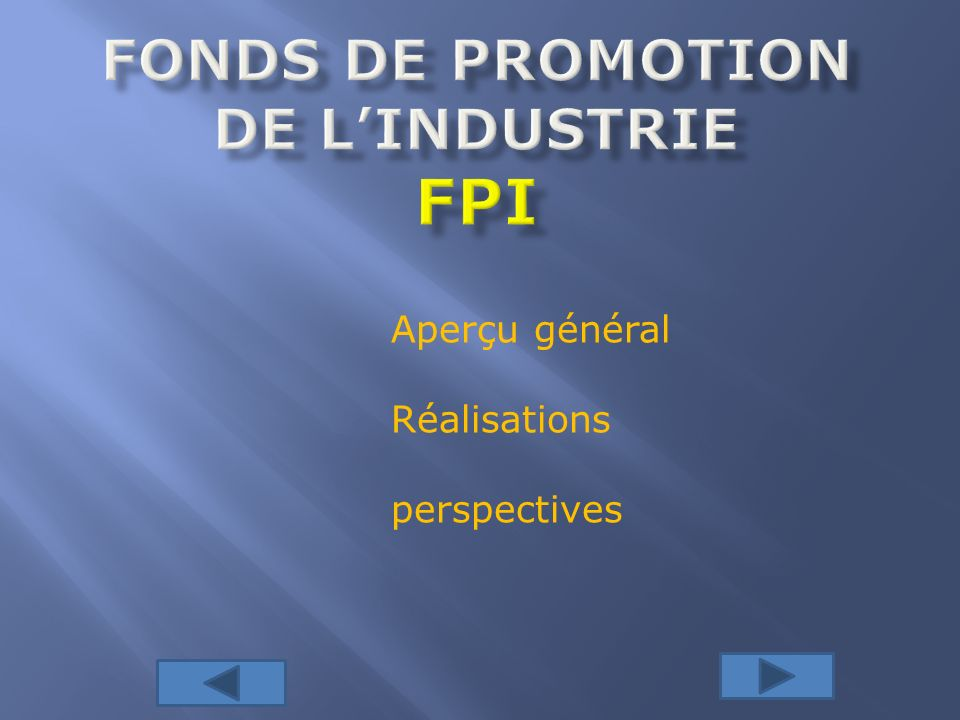 Fonds de promotion de l'industrie fPI