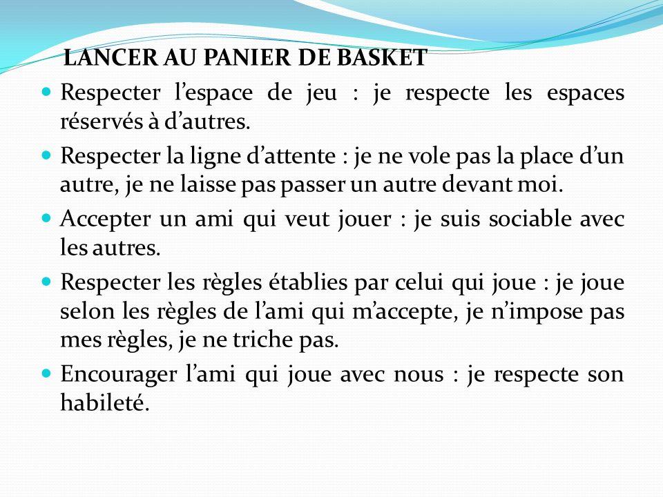 LANCER AU PANIER DE BASKET