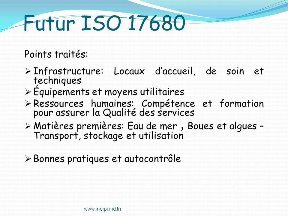 Futur ISO 17680 Points traités: