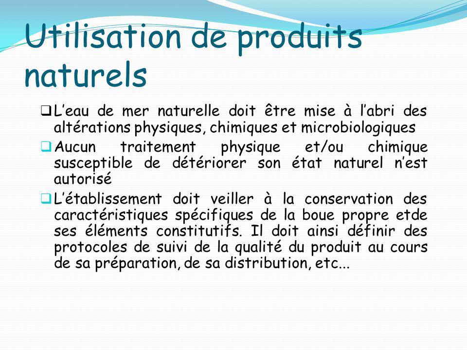 Utilisation de produits naturels