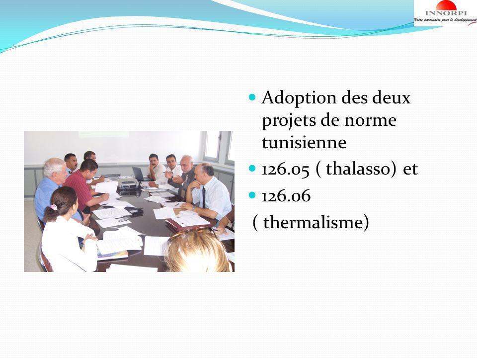 Adoption des deux projets de norme tunisienne