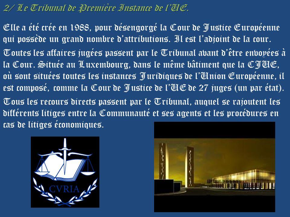 2/ Le Tribunal de Première Instance de l'UE
