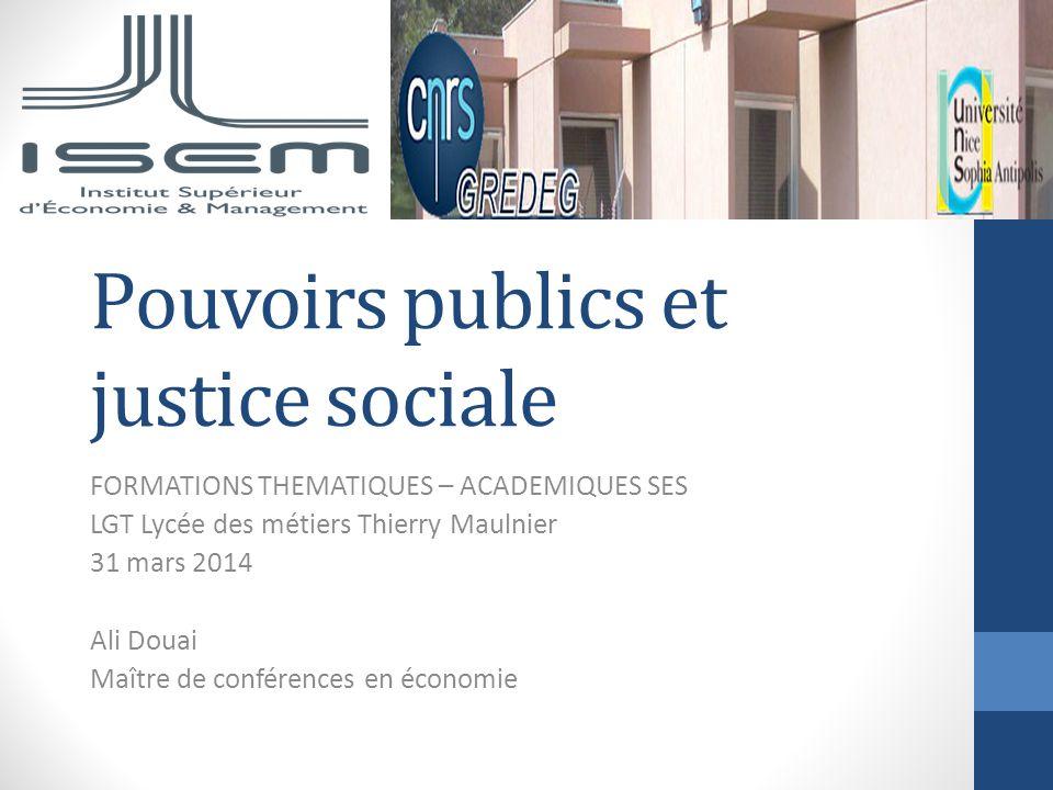 Pouvoirs publics et justice sociale