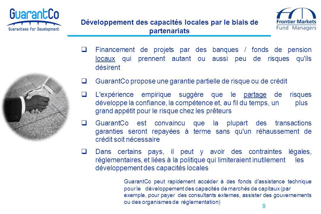 Développement des capacités locales par le biais de partenariats