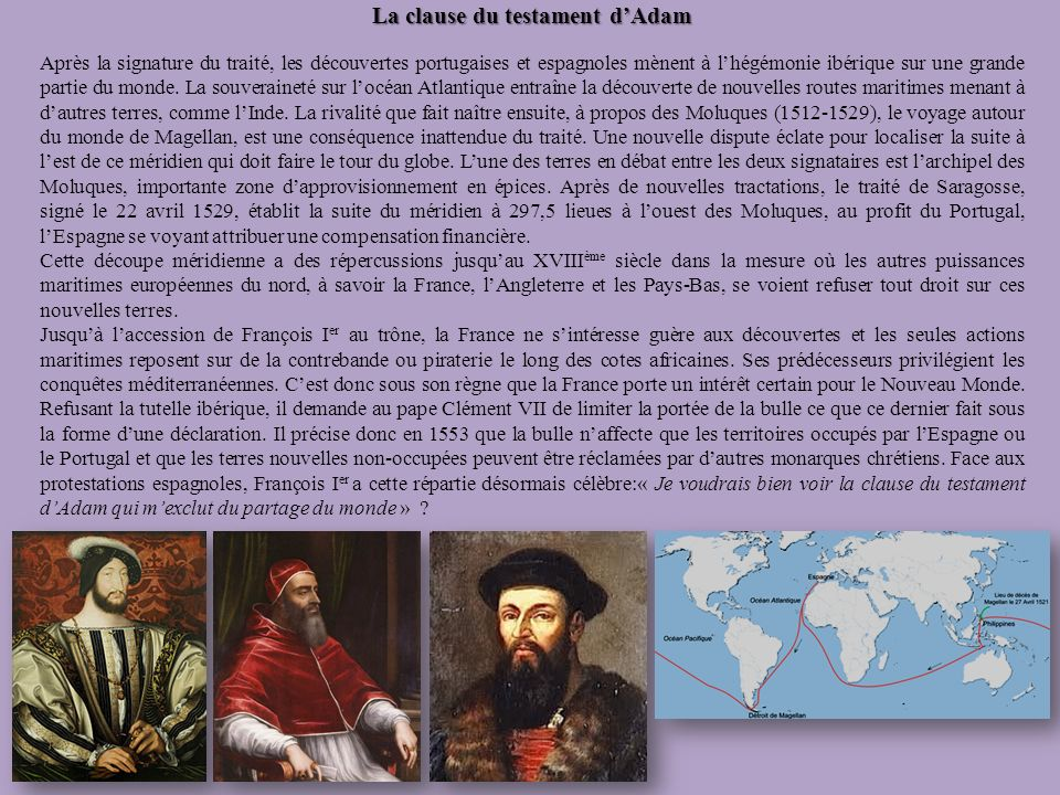 La clause du testament d'Adam
